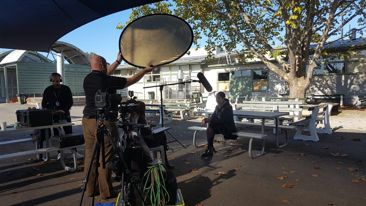 Filming the digital case study at Pascoe Vales Girls College