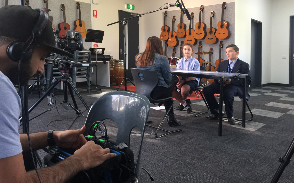 Recording the digital case study at William Ruthven Secondary College